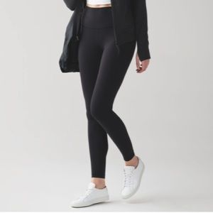 Lululemon Black Wunder Under Hi-Rise Tight 28""